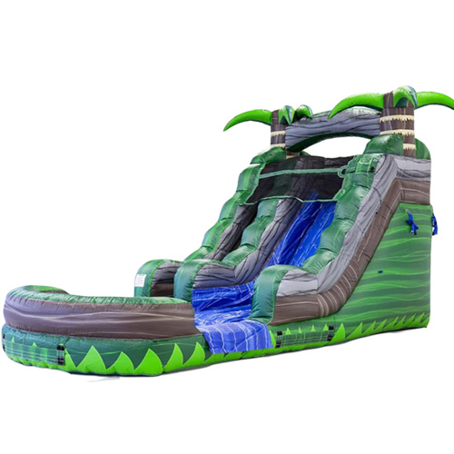 Mini Inflatable water slide with CE blower for sale