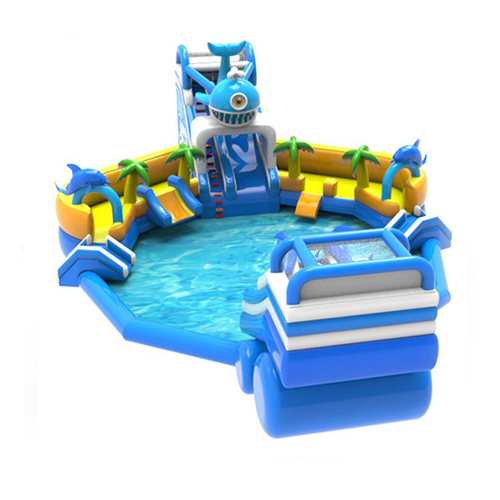 Dolphin Theme Inflatable water Park for sale