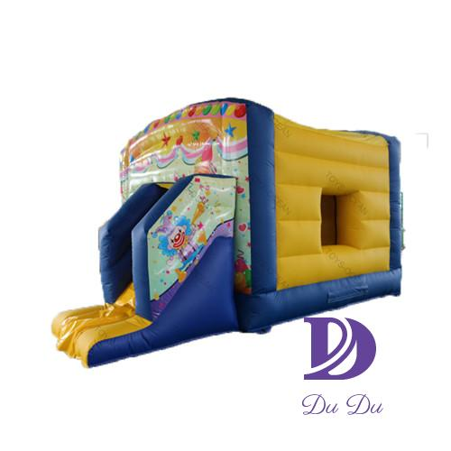 Manufacture fast supplier bouncy castle with slide for sale