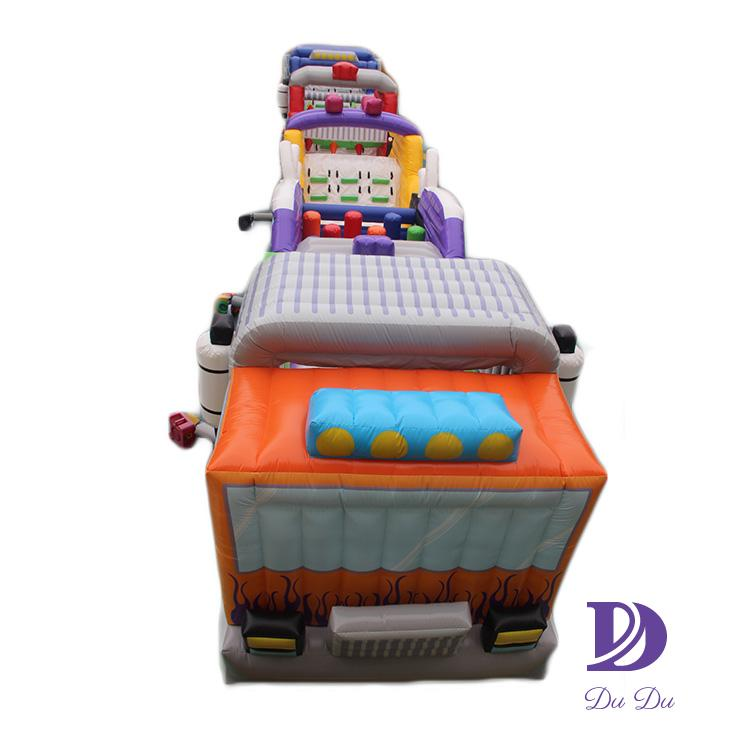 Customized durable material bouncy obstacle course for sale