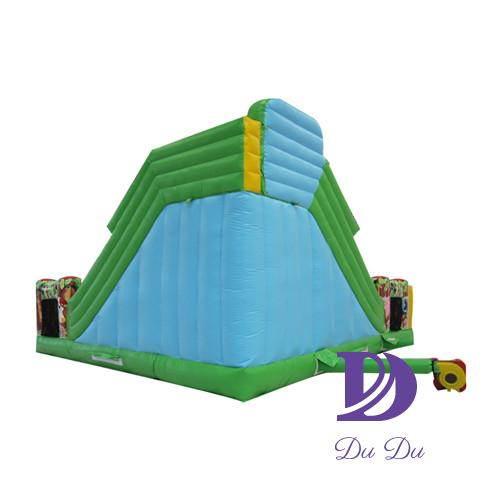 Animal world type bounce house with slide for sale