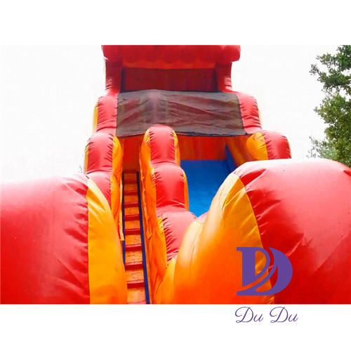 Colorful design  full certification inflatable pool slide for sale