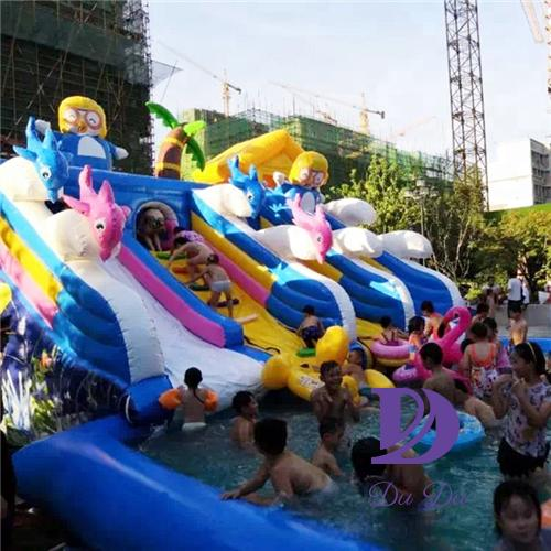 New design cartoon theme commercial inflatable water slides for sale