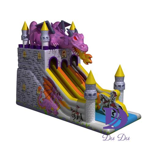 Dargon theme inflatable slides for sale