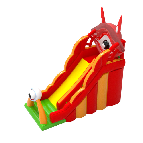 New coming eyes theme large inflatable slide with full certification for sale
