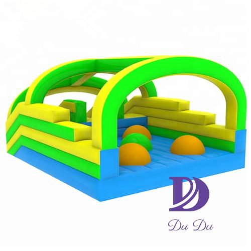 New design durable PVC 0.55mm material bouncy castle obstacle course for sale