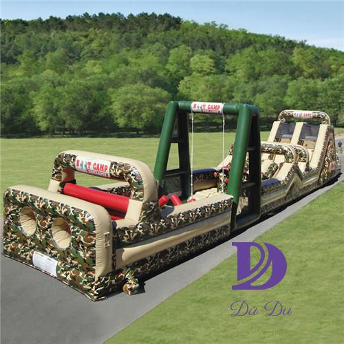 Camouflage theme giant inflatable obstacle course with EN14960 certification for sale