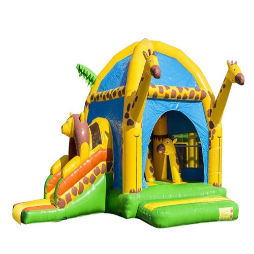 New design giraffe theme inflatable bouncy castle for sale