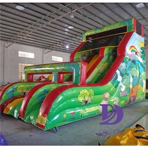 New design forest theme backyard water slide for sale