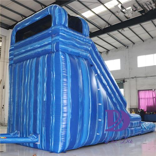 Blue theme durable inflatable bouncy water slide for sale