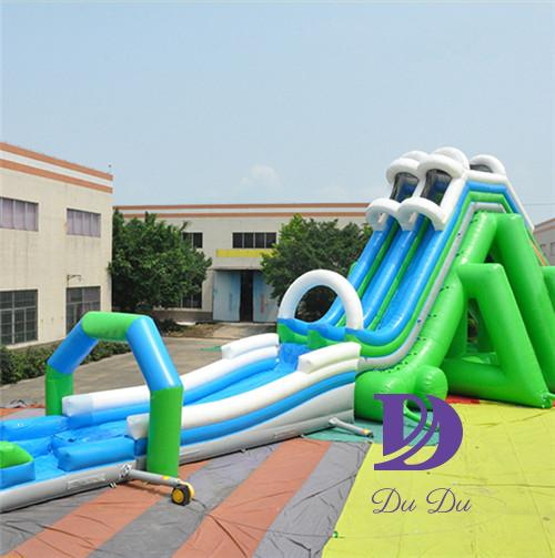 New design inflatable big water slides with free blower for sale