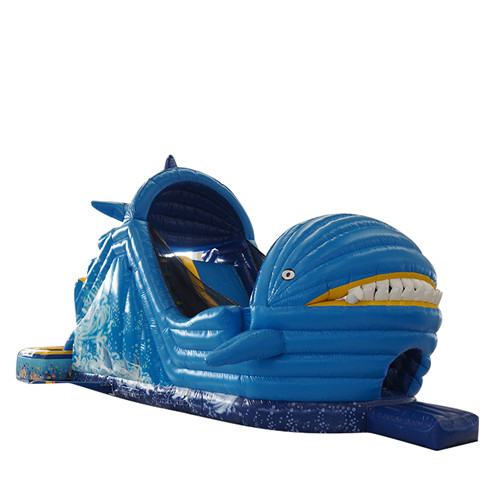 New design whale theme blow up water slide for sale