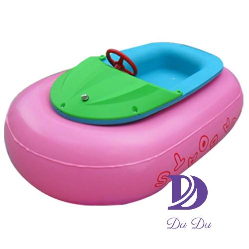 Plastic kids motor boat with inflatable tube for sale