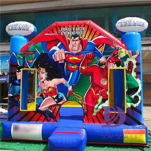 Superhero theme blow up bounce house for sale