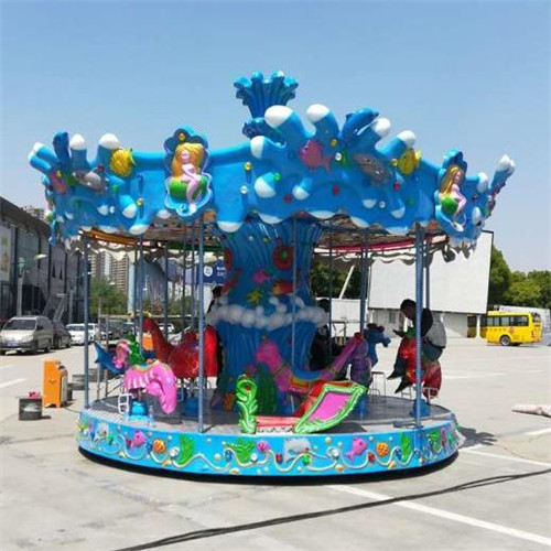Fun park rides kids amusement equipment go round carousel for sale