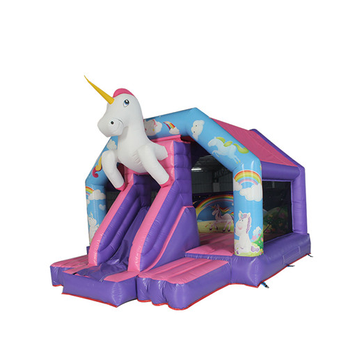 Unicorn theme inflatable kids bouncer for sale