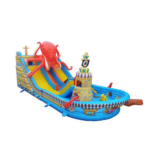 Corsair theme design kids inflatable slide for sale