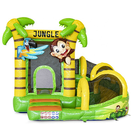 jungle inflatable jumping castle with slide for sale